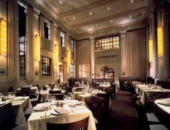 The dining room at Tellers Chophouse in Islip