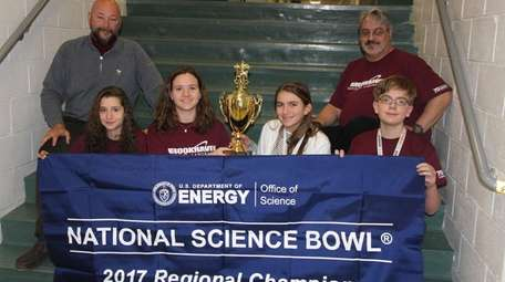 The Locust Valley Middle School Science Bowl team