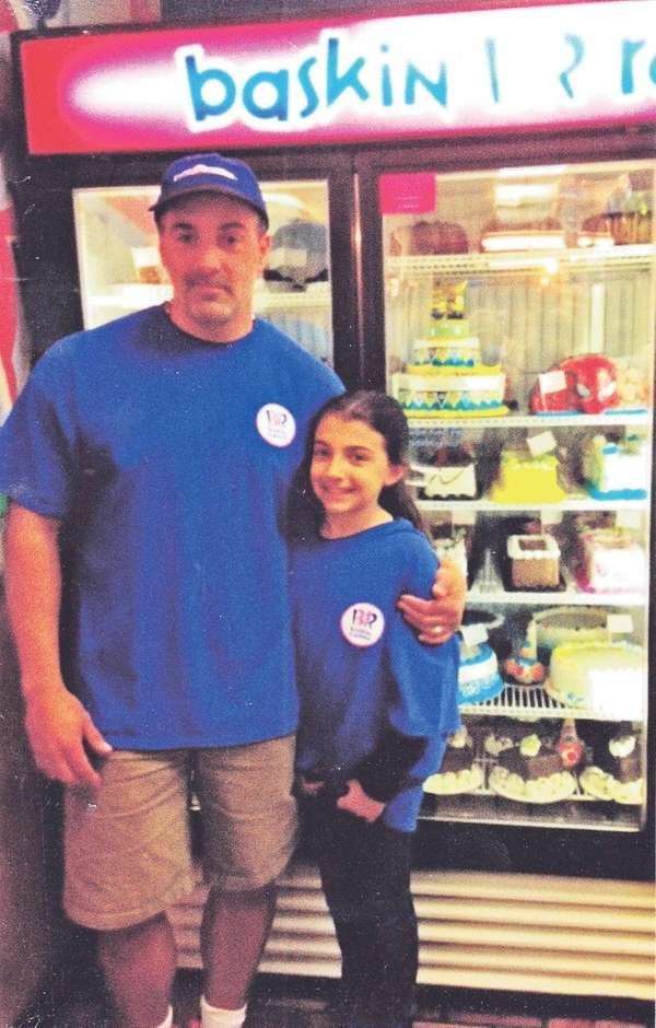 Kidsday reporter Madison Duffy with her dad, Joseph,