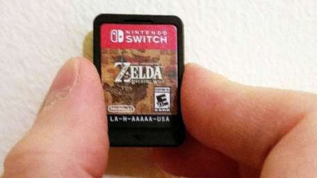 Cartridges for the Nintendo Switch game console are