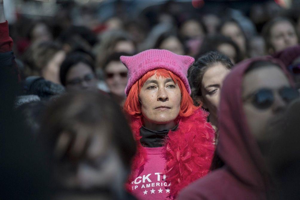 A woman wearing a