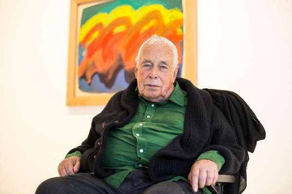Artist Howard Hodgkin was knighted by Queen Elizabeth