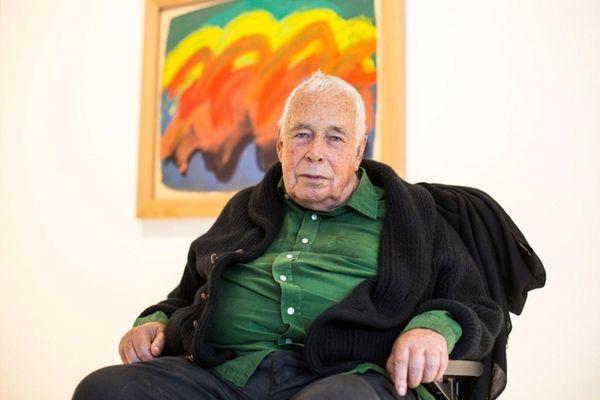 Artist Howard Hodgkin was knighted by Queen Elizabeth