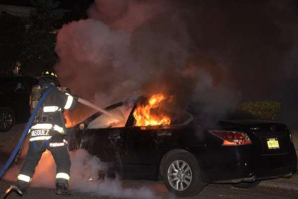 The Roosevelt Fire Department responds to a car