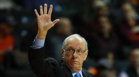 Head coach Jim Boeheim of the Syracuse Orange
