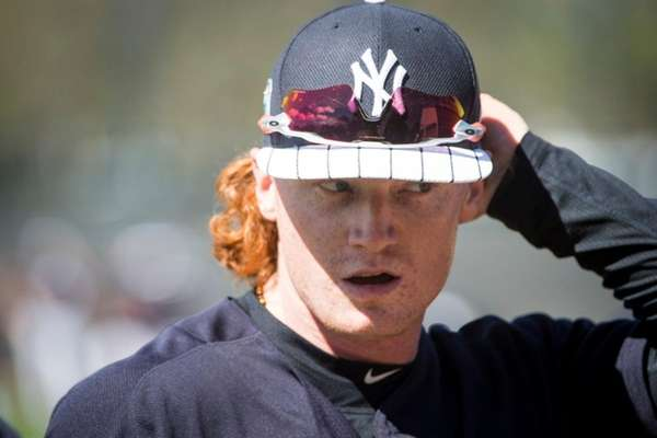 New York Yankees' Clint Frazier is seen during spring