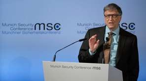 Microsoft founder Bill Gates speaks during the 53rd