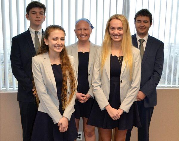 The Zenith team from Westhampton Beach High School