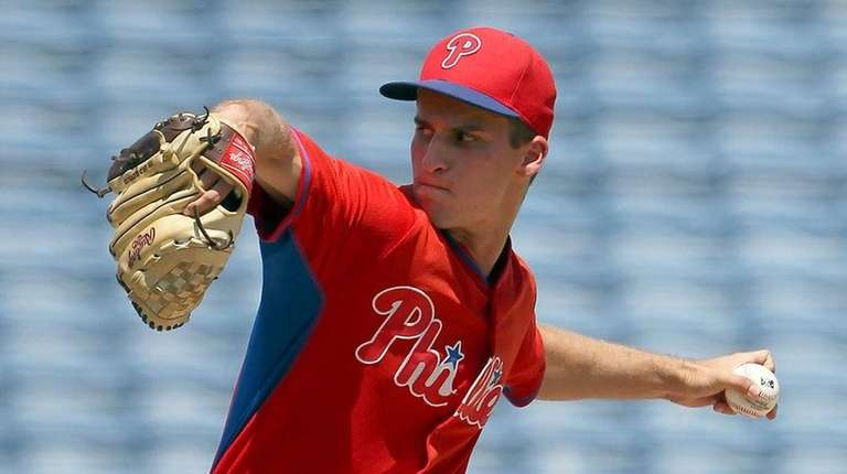 Nick Fanti of the Phillies during a Gulf