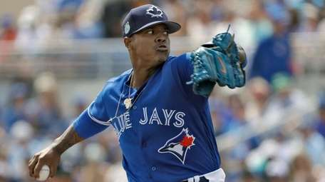 Toronto's Marcus Stroman, from Patchogue-Medford, shown here in