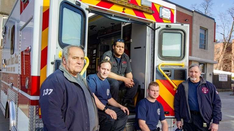 Vigilant Fire Company members from left, Aaron Hale,