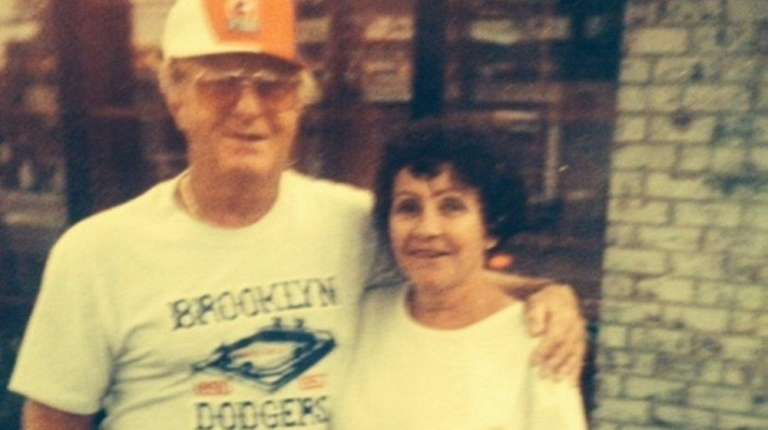Former Bethpage coach Harry Settino and his wife,