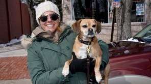 Jenny Turner with her dog, Bubba, attending the