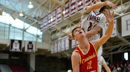 Chaminade High School forward Kyle Murphy battles for