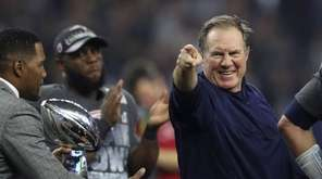 Patriots coach Bill Belichick, here after the Patriots