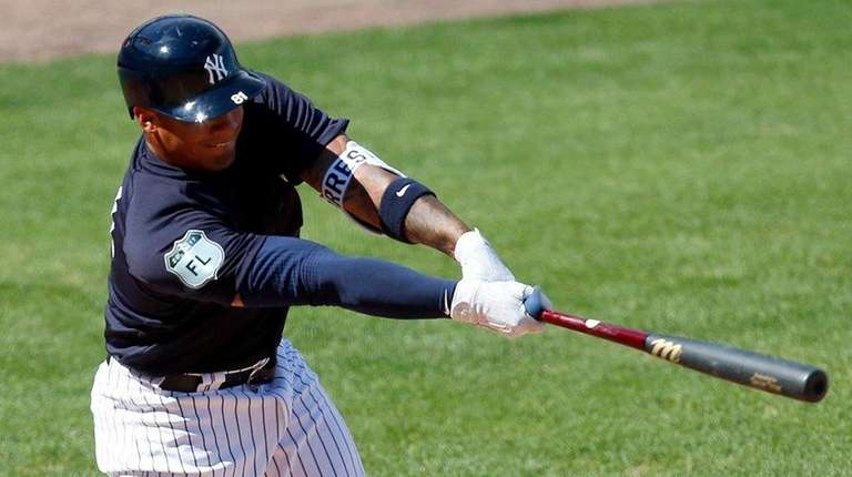 Gleyber Torres, #81, of the New York Yankees