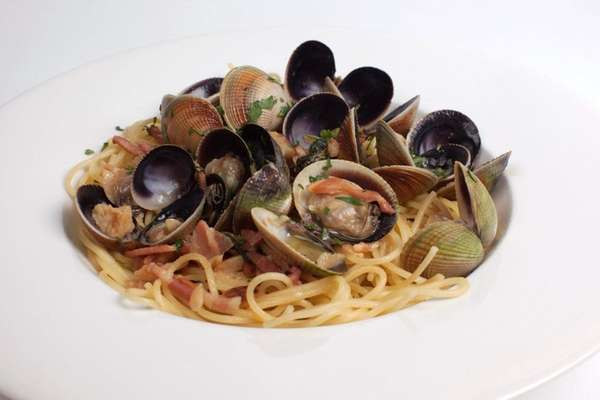 Linguine with clams is one of the pasta