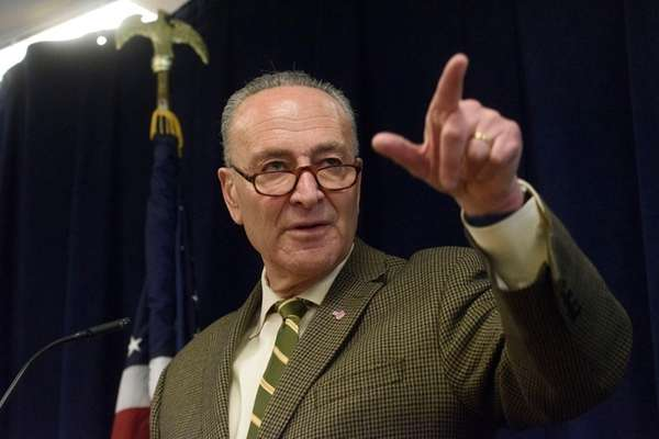 U.S. Senator Charles E. Schumer takes questions about