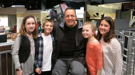 Kidsday reporters, from left, Amanda Tiedemann, TJ Innes,