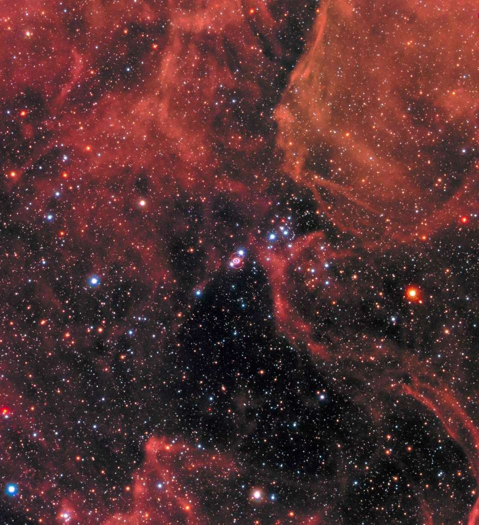 The supernova remnant SN 1987A is shown in