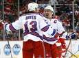New York Rangers center Kevin Hayes (13) celebrates