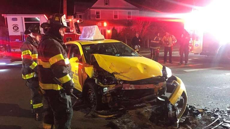 One person was transported to a local hospital