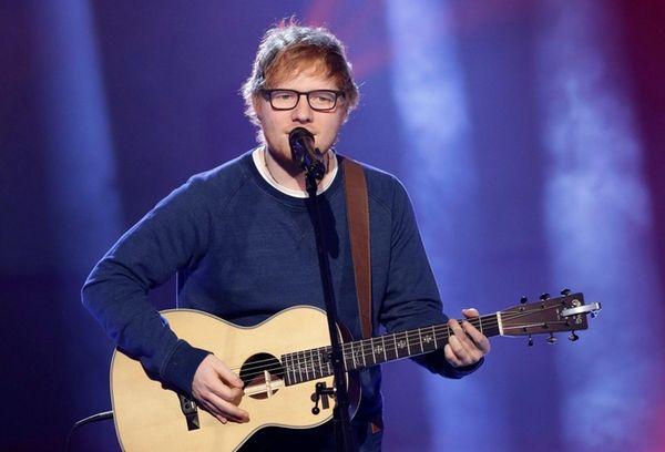 Singer Ed Sheeran performs during the Italian State