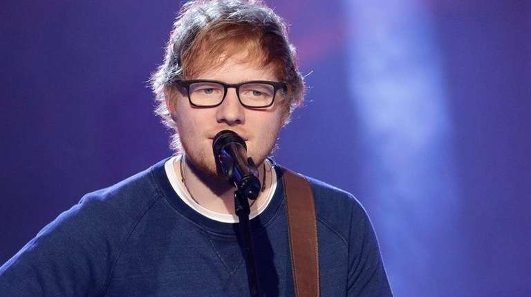 Singer Ed Sheeran performs during the Italian State
