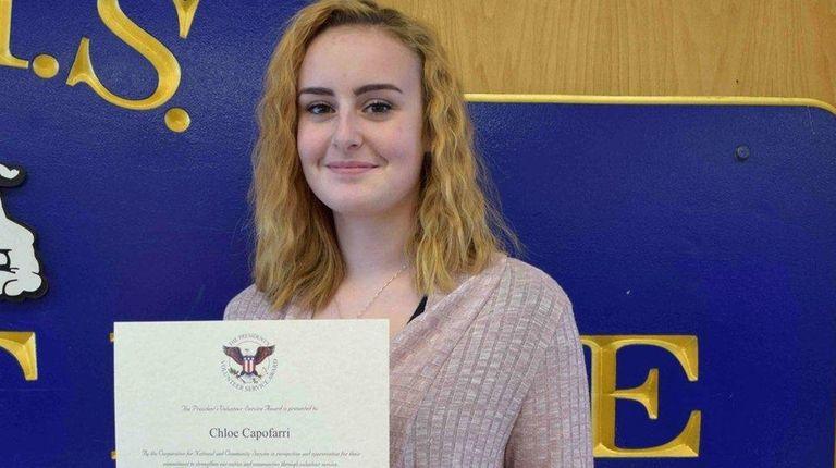 Chloe Capofarri, a senior at Long Beach High