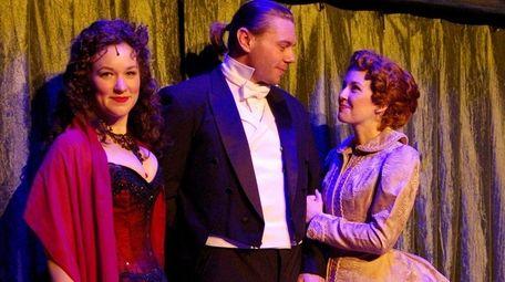 Caitlyn Caughell, left, Nathaniel Hackmann and Liana Hunt