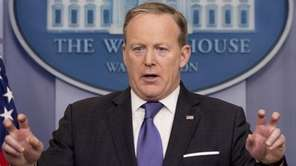 White House press secretary Sean Spicer speaks during