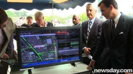 Nassau County Executive Thomas Suozzi, far right, and