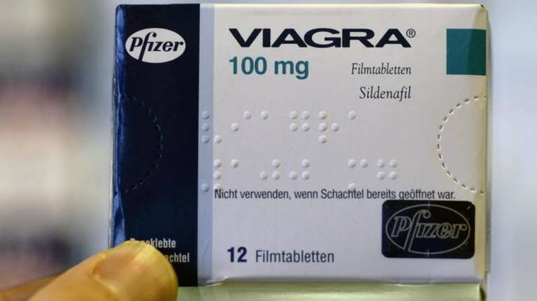 A package of Viagra is pictured in Hamburg,