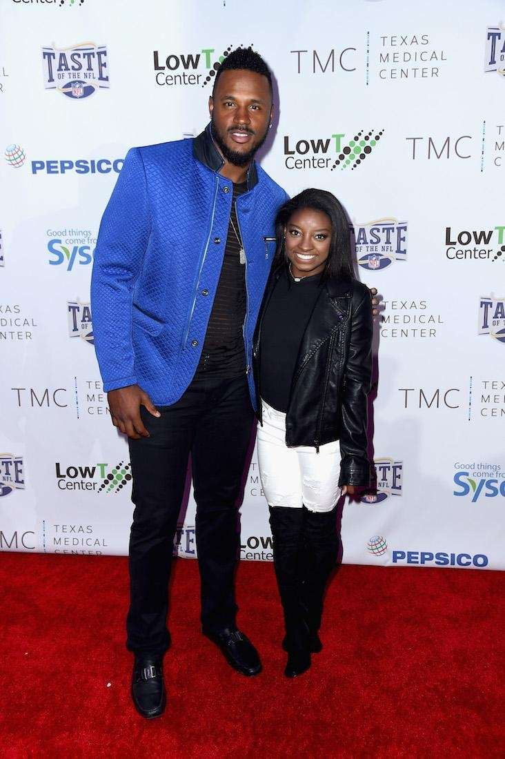 NFL player James Anderson and Olympic gymnast Simone