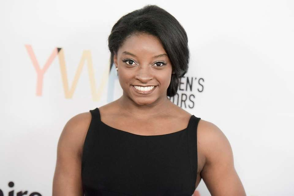 Simone Biles attends the Marie Claire Young Women's