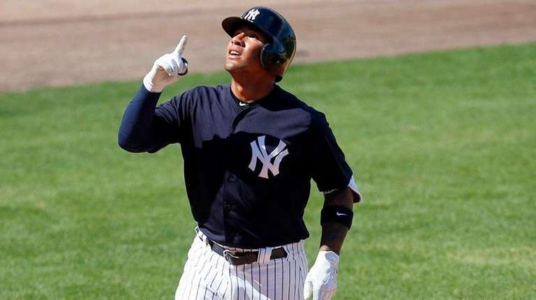 Gleyber Torres #81 of the New York Yankees