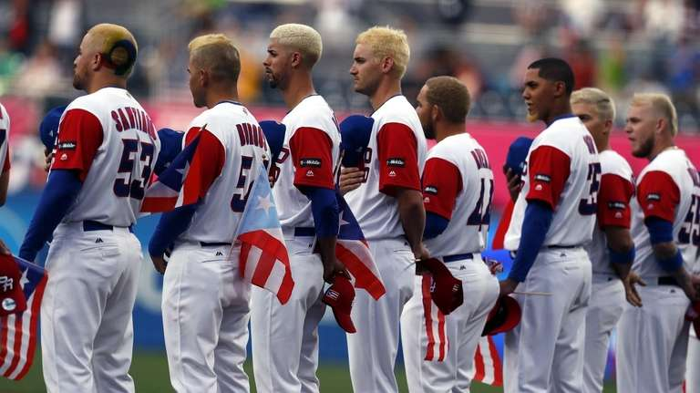 A view of Puerto Rico's team players with