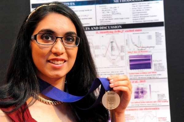 Jericho High School senior Archana Verma, 17, won