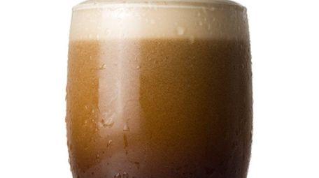 The velvety head on a glass of Irish