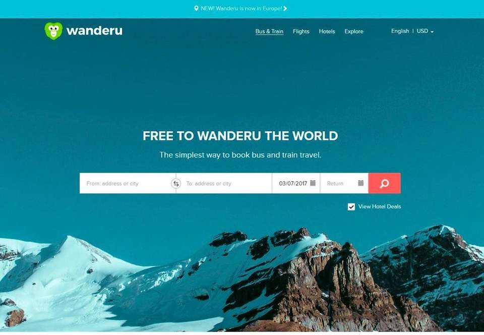 NAME Wanderu.com WHAT IT DOES The website and