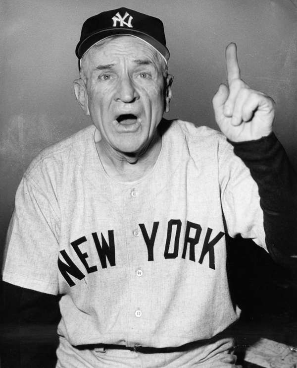 Casey Stengel, shown here as manager of the