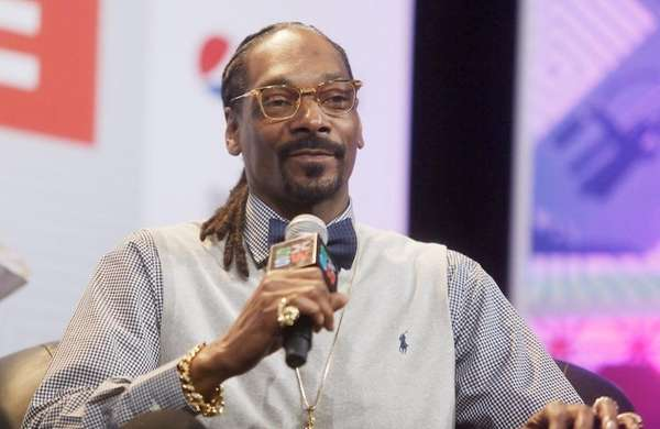 Rapper Snoop Dogg takes part in the