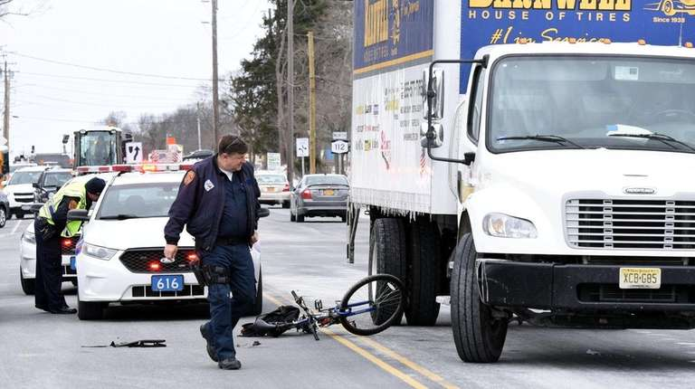 Suffolk police investigate after a bicyclist and a
