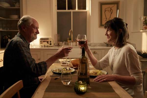Jim Broadbent and Harriet Walter in a
