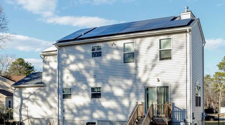 The Maiorcas installed solar panels on their Ridge