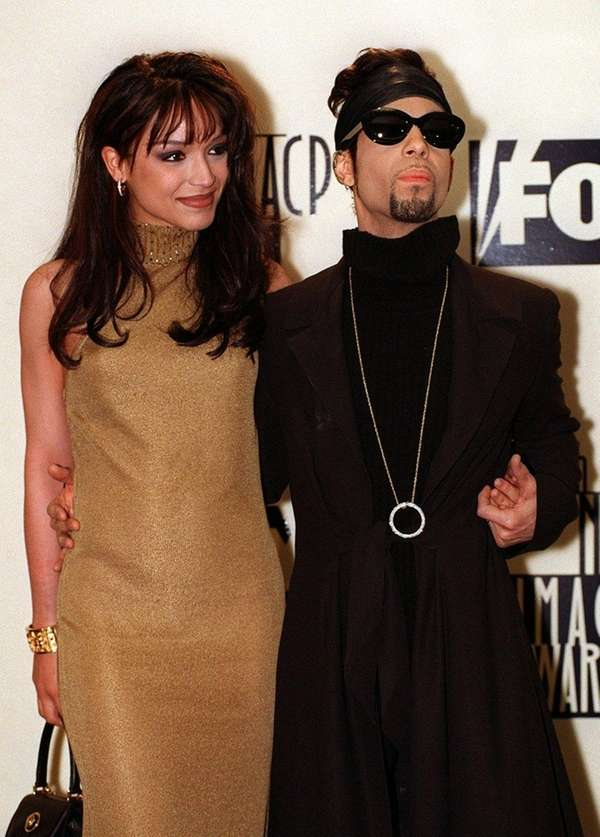 Mayte Garcia-Nelson and Prince in 1997.