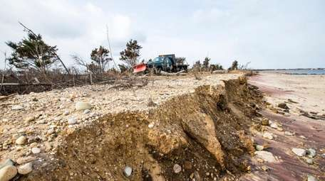 State parks officials said there was erosion along
