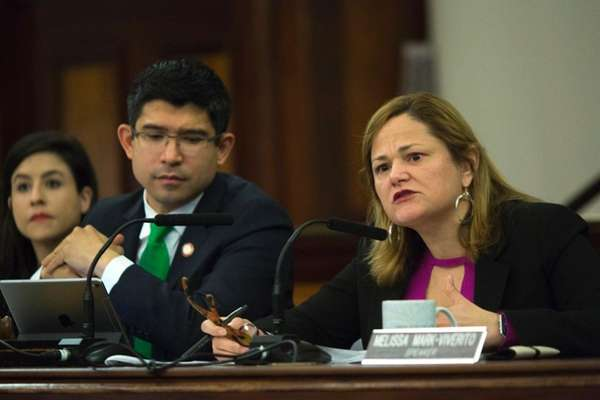 NYC Council Speaker Melissa Mark-Viverito at an immigration