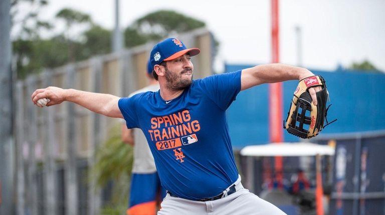 New York Mets pitcher Matt Harvey during a