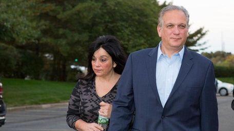 Nassau County Executive Edward Mangano with his wife,